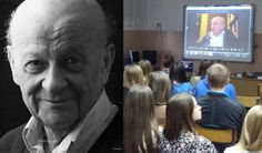 Holocaust survivor Max Epstein spoke to students from High School No 3 in Zamość, Poland via Skype last week. During the video teleconference, Max emphasized the profound influence of literature that enabled him to survive in the inhumane conditions of the Łódź ghetto.