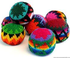 Hacky Sacks - Quality Kick Ball Footbags - Multi Colored - Hand ...