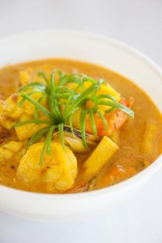 Tijgergarnalen met mango en curry
