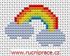 Rainbow, free cross stitch patterns and charts - www.free-cross-stitch.rucniprace.cz