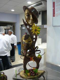 Escultura de Chocolate  http://www.tvcocina.com/photo/escultura-chocolate