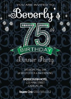 105 Best Adult Birthday Invitations Party Printables And More