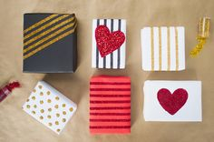 Glitter gift wrap DIY   Best Day Ever