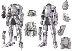 View an image titled 'Armor Designs Art' in our Pandora Saga art gallery featuring official character designs, concept art, and promo pictures. Character Design Cartoon, Character Design Tutorial, Fantasy Character Design, Character Design References, Character Design Inspiration, Character Art, Character Concept, Armadura Medieval, Knight In Shining Armor