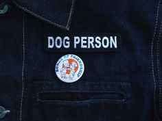 Dog Person : MC Name Tag Inspired Embroidered by monstersoutside
