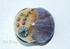 Purple Sparkles handmade lampwork focal bead by Ema by EmaKDesigns, $35.00