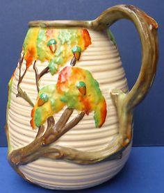 Lovely-Vintage-Carlton-Ware-Oak-Tree-Acorn-Jug-1920s-30s-Wiltshaw-Robinson-1146