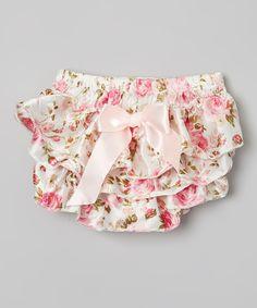 0-12M Pink Floral Diaper Cover - Infant & Toddler