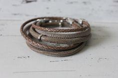 Wickelarmbänder - Wickelarmband Leder braun - ein Designerstück von ben-und-fred bei DaWanda