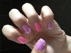 Lavender & Pink pearly diamantes....