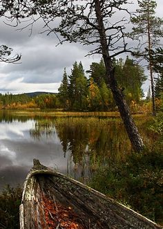 The old boat.. Lappland, Scandinavia | by Meina Giese