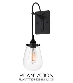 Barstow Wall Sconce Plantation Lighting Black Gl