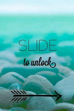 Slide to unlock blue iphone wallpaper