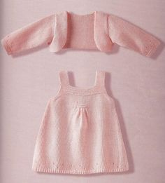 In Italian :( sweet dress & shrug for baby ~ free pattern
