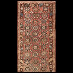 Bijar Rug - 3769 | Persian Formal   Origin Persia, Circa: 1910  #antiquerug #rahmanan #persianeug #antiquerugstudio #nyc,