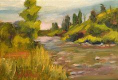 Landscape Artists International: River's Edge by Texas Contemporary Artist, Judy Wilder Dalton