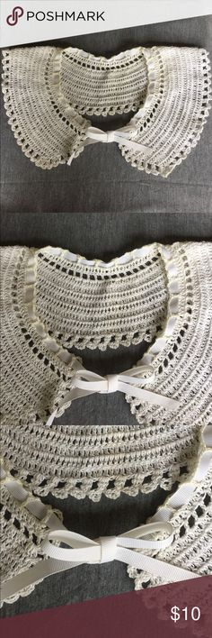 Crochet Collar Vintage hand made crochet collar is made from cotton thread and washable. This has never been worn. Makes a lovely accent for your vintage tops or sweaters. vintage Accessories