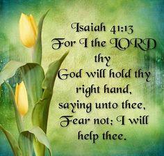 Isaiah 41:13 KJV