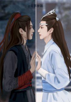 Wei wuxian x Lan Zhan Live Action, Drame, The Grandmaster, Manga, Illustrations, Anime Guys, Character Art, Chibi, Fantasy Art