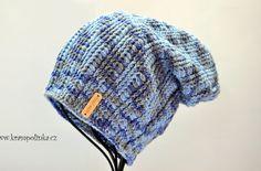 Homelešanka a nákrčník Dolphin ombre efekt – Krampolínka Cotton Socks, Tweed, Knitted Hats, Free Pattern, Winter Hats, Beanie, Knitting, Preemies, Lace