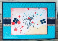 Stampin' Up! UK Feeling Crafty - Bekka Prideaux Stampin' Up! UK Independent Demonstrator: Make in A Moment Monday - Memories in the Making Project Lift Thank You Card