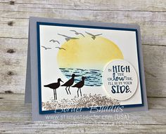 High Tide stamp set by Stampin' Up! Border Buddy PDF Card Tutorial www.stampstodiefor.com A