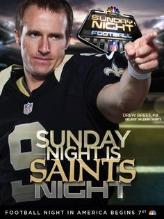 Sunday Night Football - Saints vs. Chargers - 07 October, 2012