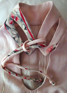 kimono silk cats eye collar ... this is amazing; what a wonderful detail