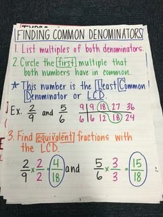Finding common denominators anchor