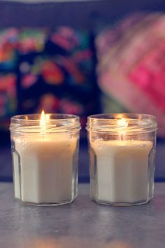 tealights into scented candles (in French)