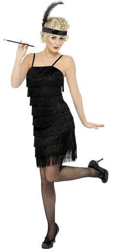 Roaring 20's - Black Fringe Flapper Adult Costume. One of my favorites!
