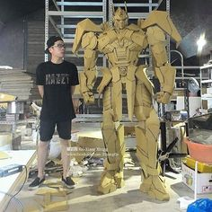 "Cardboard Optimus Prime (FULL SIZE) by artist 鍾凱翔 Kai-Xiang Xhong. ""Transformers more than meets the eye, Transformers Robots in Disguise""."