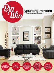 Pin to Win your dream room from overstock.com! Follow the instructions on this pin, and enter here: www.overstock.com...