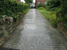 Stamped Concrete Cobblestones Raised Patio | Northern Cobblestone    Driveways Burnley / Concrete Driveways Burnley .