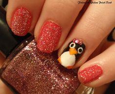 penguin accent Fingernail Designs, Toe Nail Designs, Penguin Nails, Manicure And Pedicure, Manicure Ideas, Nail Accessories, Nail Art Hacks, Creative Nails, Nail Tutorials