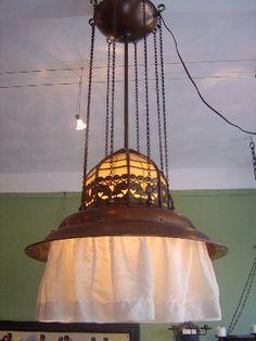 Amsterdam School lamp around 1920 sold