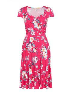 Set yourself apart from the crowd in this incredible floral knee length dress. The Daiquiri Floral Jersey Dress features a flattering sweetheart neckline with ruching across the bust, short cap sleeves and a full flowy skirt. A romantic dress for a warm summers day picnicking, shopping or strolling by the beach! Top off the outfit with pretty earrings and the white Luna Sneakers for ultimate comfort and style. Floral Fashion, Skirt Fashion, Fashion Dresses, Fashion Styles, Beautiful Dresses, Nice Dresses, Church Dresses, Girls Wardrobe, Vintage Inspired Dresses