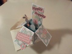 Easter Card in a Box by peckpapercreations on Etsy, $2.50