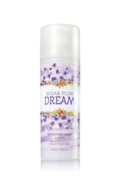 Sugar Plum Dream - Shimmer Swirl Lotion - Bath & Body Works - Celebrate with sparkles! Our Shimmer Swirl Lotion blends hydrating Shea Butter with nourishing Vitamin E to leave skin irresistibly soft & luxuriously smooth. Infused with crystals inspired by sparkling snowflakes, our limited edition lotion kisses skin with shimmer for an absolutely radiant finish.
