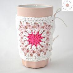 Ocieplacz na kubek - róż/amarant