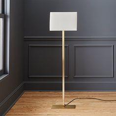 John Metallic Bronze Floor Lamp + Reviews | CB2