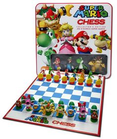 Super Mario Chess Set -  The Super Mario Chess set is a fun way to introduce kids to the game of chess #mario #chess #games