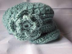 KC Crochet and other fun life adventures!: Crochet little girl newsboy hat pattern