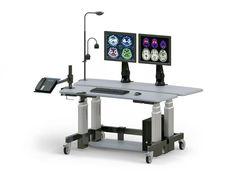 Height-Adjustable Dual Tier Computer Stand Up Desk