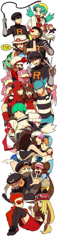 anime girl, team rocket, and pokemon image