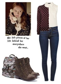 Emma Decody - Bates Motel by shadyannon on Polyvore featuring polyvore fashion style Play Comme des Garçons Topshop Frame Denim 2 Lips Too Mossimo clothing