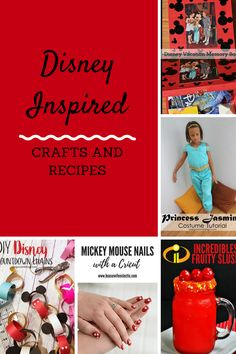 DIY Disney Inspired Crafts and Recipes! - Coral + Co.We are all about Disney in our house! We have pulled together some of our favorite Disney inspired crafts and recipes below. Disney Inspired Food, Disney Food, Disney Recipes, Cute Crafts, Diy Crafts For Kids, Kids Diy, Decor Crafts, Craft Ideas, Disney Diy Crafts