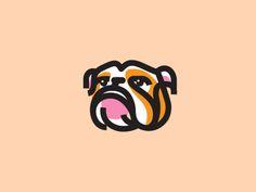 Bulldog - Love the registration errors... Dog Drawing Simple, Logo Luxury, Dog Logo Design, Graphic Design, Hyper Dog, Logos, Best Dog Photos, Dog Icon, Dog Rooms