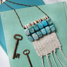 Make your own boho chic woven necklace!