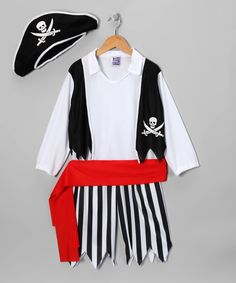 Black Plundering Pirate Dress-Up Set - Toddler & Kids